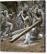 Christ Falls Beneath The Cross Canvas Print
