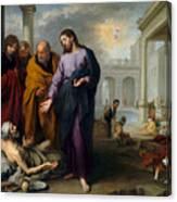 Christ Healing At Pool Of Bethesda Canvas Print