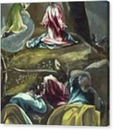 Christ In The Olive Garden Canvas Print