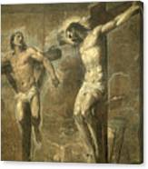 Christ On The Cross And The Good Thief Canvas Print