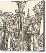 Christ On The Cross Between The Virgin And Saint John Canvas Print