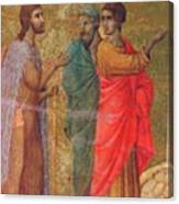 Christ On The Road To Emmaus Fragment 1311 Canvas Print
