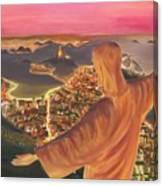 Christ Over Rio Canvas Print
