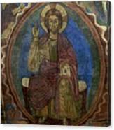 Christ Pantocrator Fresco. Basilica Saint-julien. Brioude. Haute Loire. Auvergne. France. Canvas Print