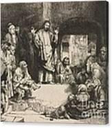 Christ Preaching (la Petite Tombe) Canvas Print
