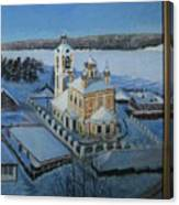 Christ Risen Church In Ples, Ivanovo Region Canvas Print