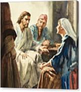 Christ Talking Canvas Print
