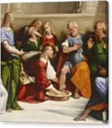 Christ Washing The Disciples' Feet Canvas Print