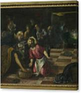 Christ Washing The Feet Of The Disciples Canvas Print