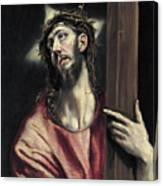 Christ With The Cross Canvas Print