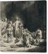 Christ With The Sick Around Him, Receiving Little Children Canvas Print