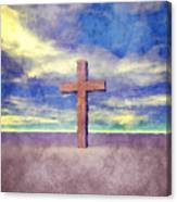 Christian Cross Landscape Canvas Print