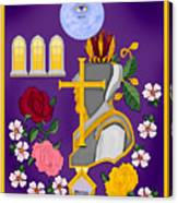 Christian Knights Of The Cross And Rose Canvas Print