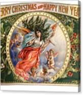 Christmas Angel Label Canvas Print