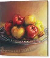 Christmas Apples Canvas Print