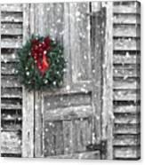 Christmas At The Farm Canvas Print