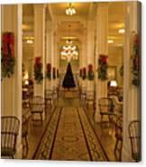 Christmas At The Mount Washington Hotel Canvas Print