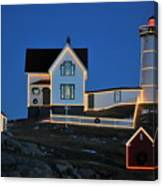 Christmas At The Nubble  Canvas Print