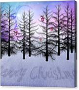Christmas Bare Trees Canvas Print