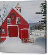 Christmas Barn Canvas Print