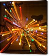 Christmas Bike Abstract Canvas Print