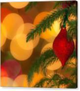 Christmas Bokeh Canvas Print