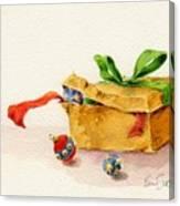 Christmas Box Canvas Print