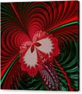 Christmas Butterfly Fractal 63 Canvas Print