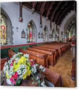 Christmas Church Flowers Canvas Print