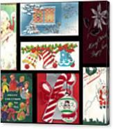 Christmas Collage  Canvas Print