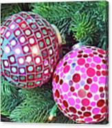 Christmas Dots No. 1-1 Canvas Print