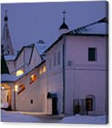 Christmas Evening Light In The Temple Suzdal Canvas Print