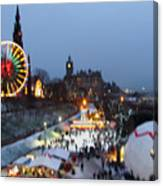 Christmas Fair Edinburgh Scotland Canvas Print