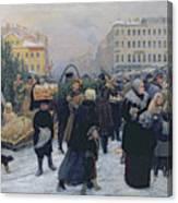 Christmas Fair  Canvas Print