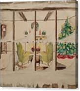 Christmas Fireside Canvas Print