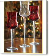 Christmas Glass Candle Holders Canvas Print