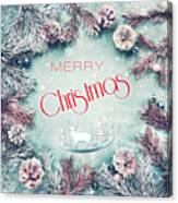 Christmas Greeting Card, By Imagineisle Canvas Print