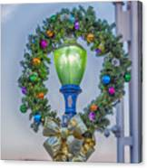 Christmas Holiday Wreath With Balls Canvas Print