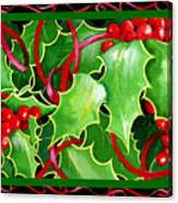 Christmas Holly And Berries Canvas Print