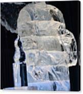 Christmas Ice Sculpture Angel Canvas Print