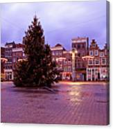 Christmas In Amsterdam The Netherlands Canvas Print
