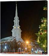 Christmas In Market Square Canvas Print
