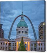 Christmas Jefferson National Expansion Memorial St Louis 7r2_dsc3574_12112017 Canvas Print