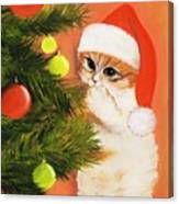 Christmas Kitty Canvas Print