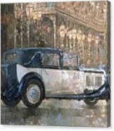 Christmas Lights And 8 Litre Bentley Canvas Print