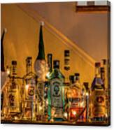 Christmas Lights And Bottles 4197t Canvas Print