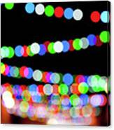 Christmas Lights Bokeh Blur Canvas Print