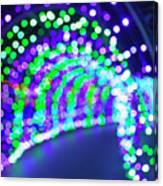 Christmas Lights Decoration Blurred Defocused Bokeh Canvas Print