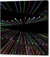 Christmas Lights Zoom Blur Canvas Print