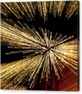 Christmas Lights Zoom Blur II Canvas Print